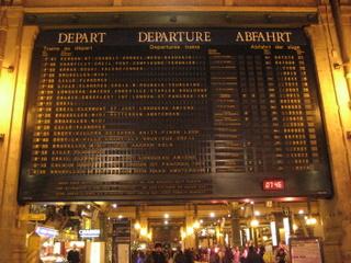 パリ北駅 出発案内